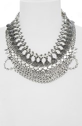 Junior Women's Leith Coin And Crystal Statement Necklace