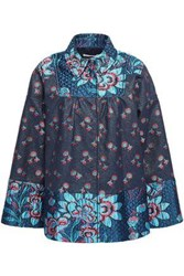 Red Valentino Redvalentino Woman Jacquard Jacket Blue