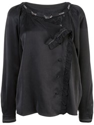 Coach Washed Effect Blouse Black