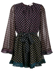 Zimmermann Multi Polka Dot Playsuit Polyester Black