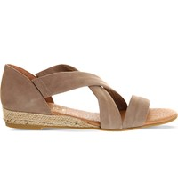 Office Hallie Suede Sandals Camel Suede