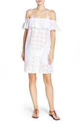 Tory Burch Women's Broderie Off The Shoulder Cover Up Dress