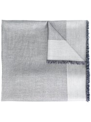 Dondup Contrast Border Scarf Blue