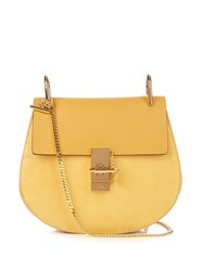 Chloe Drew Small Leather And Suede Cross Body Bag Light Yellow
