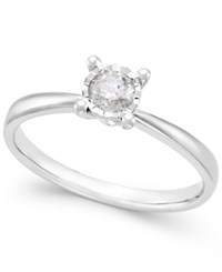 Macy's Diamond Solitaire Ring 1 5 Ct. T.W. In 10K White Gold