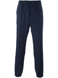 Marni Elasticated Cuff Trousers Blue