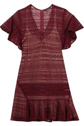 Marissa Webb Cybil Lace Mini Dress Burgundy
