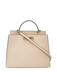 Zac Posen Earthette Double Compartment Satchel White