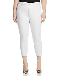 Nydj Alina Frayed Ankle Legging Jeans In White Optic White
