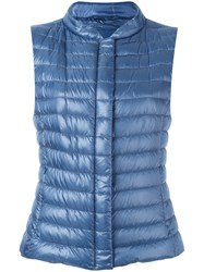 Herno Quilted Gilet Blue