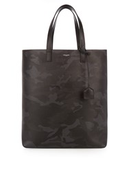 Saint Laurent Medium Leather Tote Camo