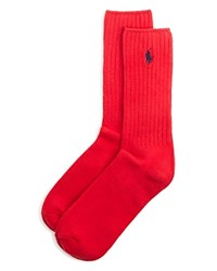 Ralph Lauren Ribbed Crew Socks