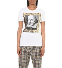 Anglomania Shakespeare Cotton Jersey T Shirt White