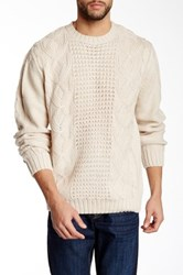 Weatherproof Fisherman Cable Sweater Beige