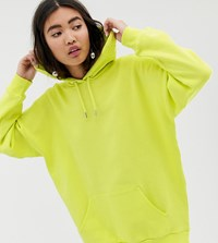 Monki Oversized Oversized Hoodie In Lime Green