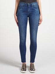 Calvin Klein High Rise Sculpted Skinny Jeans Tidal Blue