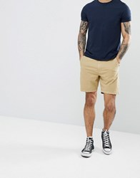 Hollister Core Chino Shorts In Beige