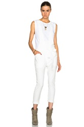 Isabel Marant Iana Chic Linen Jumpsuit In White