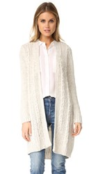 Cupcakes And Cashmere Neil Cable Knit Cardigan Ivory