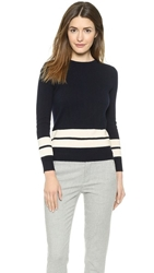 Demy Lee Ali Cashmere Sweater Navy White