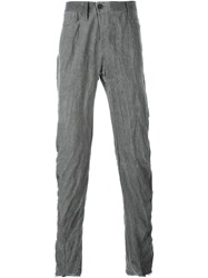 Lost And Found Twisted Slim Fit Trousers Grey