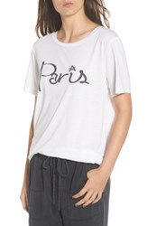 South Parade Women's Paris Tee White