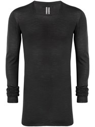Rick Owens Long Sleeve Fitted Sweater Grey