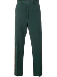 Gucci Cropped Tailored Trousers Green