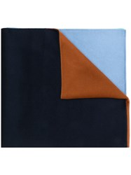 Odeeh Colour Block Scarf Blue