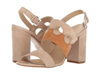 Andre Assous Fern Taupe White Cuero Suede Women's Sandals Beige