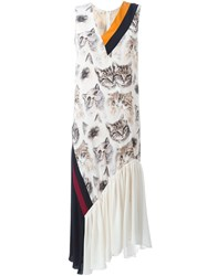 Stella Mccartney 'Ilona' Cat Print Dress White