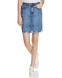 Nobody Tilda Denim Pencil Skirt Roughed Up