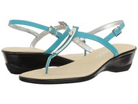 Onex Valencia Turquoise Leather Women's Sandals Blue