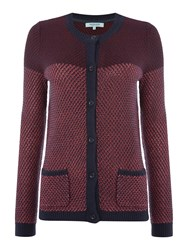 Dickins And Jones Berry Button Front Cardigan