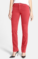Women's Cj By Cookie Johnson 'Faith' Stretch Straight Leg Jeans Coral