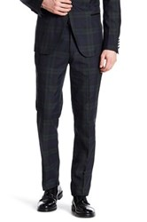 Paisley And Gray Blue Plaid Flat Front Tux Trouser 32 Inseam
