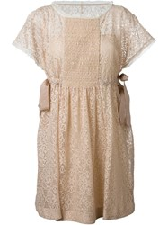 Red Valentino Side Tie Lace Dress Pink And Purple