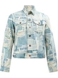 Dries Van Noten Venny Patchwork Print Blue