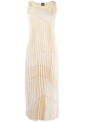 Lorena Antoniazzi Pleated Panelled Dress 1225 Nude