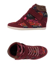 Desigual High Tops And Trainers Maroon