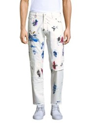 Ovadia And Sons Slim Fit Cotton Straight Pants White