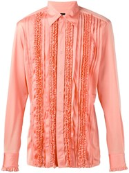 Jean Paul Gaultier Vintage Ruffled Shirt Yellow And Orange