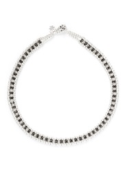 Philippe Audibert 'Lysa' Crystal Bead Choker Necklace Metallic