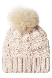 Woolrich Wool Hat With Pom Pom Rose