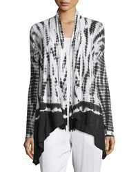 Xcvi Embassy Tie Dye Open Cardigan Saturn Black