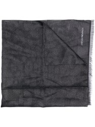 Emporio Armani Two Tone Scarf Black