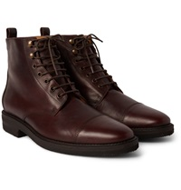 Billy Reid Kieran Cap Toe Leather Boots