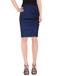 Manuel Ritz Skirts Knee Length Skirts Women Dark Blue