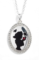 Disney Snow White 'Kind To All Big And Small' Pendant Necklace Silver