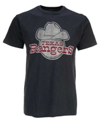'47 Brand Men's Texas Rangers Scrum Coop Logo T Shirt Navy